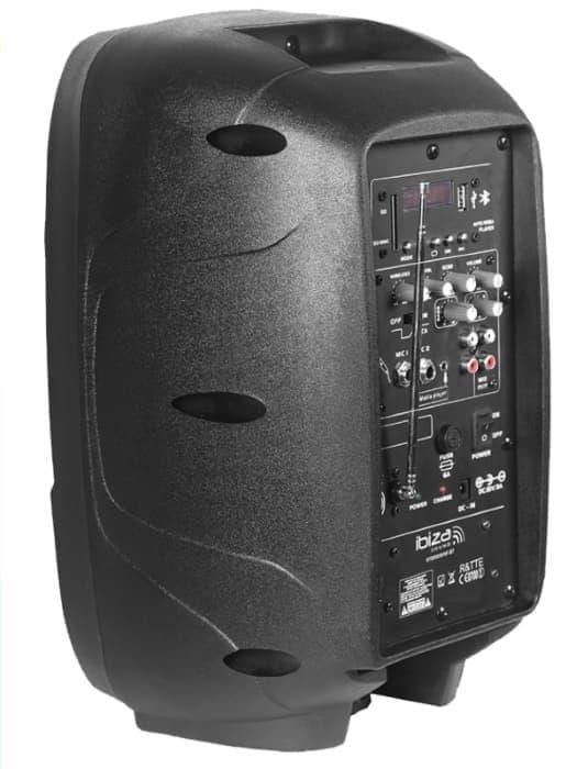 Ibiza Sound HYBRID8VHF-BT Φορητό Αυτοενισχυόμενο Ηχείο 8'' Με Ασύρματο Μικρόφωνο VHF & Bluetooth | DBM Electronics