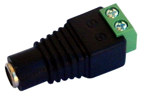 JR-53 Βύσμα Τροφοδοσίας Με Κλέμα Ιδανικό Για Κάμερα, Θηλυκό   DBM Electronics