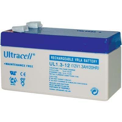 UL 1.3-12 Ultracell Επαναφορτιζόμενη Μπαταρία Μολύβδου 12V 1.3Ah | DBM Electronics