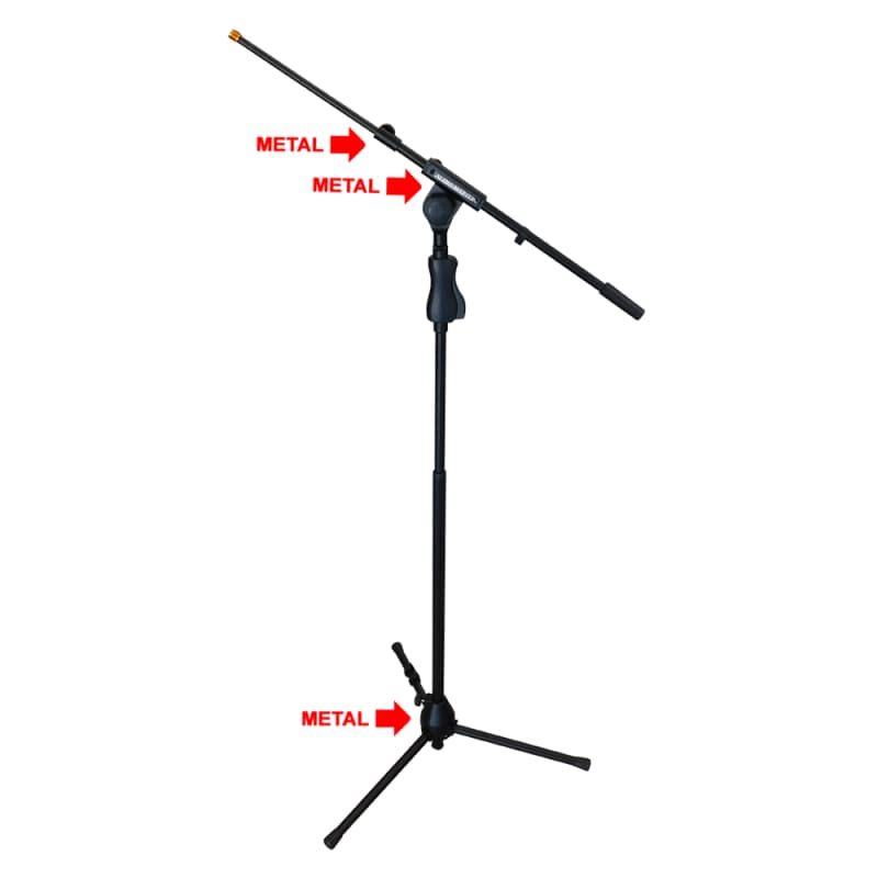 Audio Master MS25 Mic Stand Υψηλής Ποιότητας Με Ρυθμιζόμενο Ύψος 1.05m - 1.80m | DBM Electronics