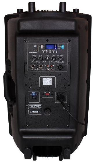 Ibiza SLK8A-USB Αυτοενισχυόμενο Ηχείο 8'' Ισχύος 200Watt Με MP3 Player Bluetooth Και Είσοδο USB-SD (Τεμάχιο) | DBM Electronics