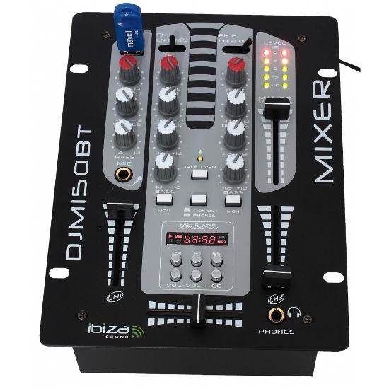 Ibiza DJM150USB Μίκτης DJ 2 Καναλιών Ιδανικός Για Μικρά Καφέ Με USB & Bluetooth Player | DBM Electronics