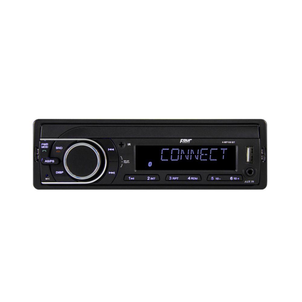 Four Connect 4-MP100BTi Ραδιο USB/SD Με Bluetooth & Ενσωματωμένο Μικρόφωνο 4x 45Watt Max | DBM Electronics