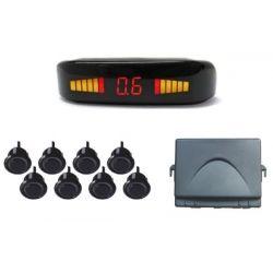 Σύστημα Παρκαρίσματος Αυτοκινήτου OEM PSD.08, Με Ηχητική Προειδοποίηση & Οθόνη Ενδείξεων LED (Σετ 8 Αισθητήρων) | DBM Electronics