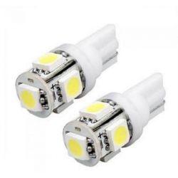 Λαμπτήρας LED T10 Με 5 SMD 24Volt (Ζεύγος) LED.5.24V. | DBM Electronics