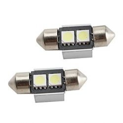 LED.B2.MERCEDES Λαμπτήρας LED Σωληνωτός Can Bus Με 2 SMD 31mm (Ζεύγος) | DBM Electronics