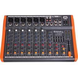 Ibiza Sound MX801 Μικροφωνικός Μίκτης Με USB Player 6 Μικροφωνικών & 1 Στέρεο Καναλιών | DBM Electronics