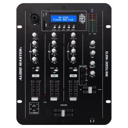 Audio Master DJM-305USB Επαγγελματικός Μίκτης DJ 3 Καναλιών, Με Θύρα USB & SD Card | DBM Electronics
