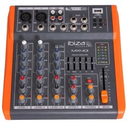 Ibiza MX401 Μικροφωνική Κονσόλα 4 Καναλιών Με USB | DBM Electronics