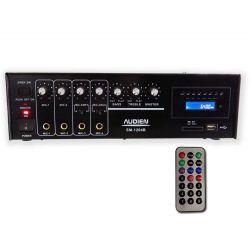 Audien SM-1204B Μικροφωνικός Ενισχυτής 100V 4 Εισόδων Με USB/SD | DBM Electronics