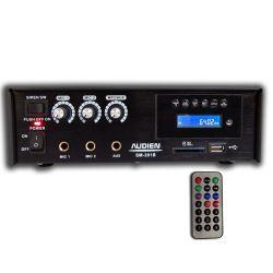Audien SM-201B Μικροφωνικός Ενισχυτής 3 Εισόδων Με USB/SD | DBM Electronics