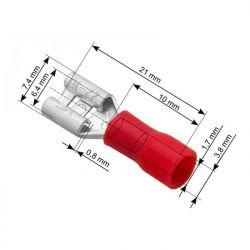 43-043 Τερματικός Ακροδέκτης 6.3mm Με Μόνωση PVC, Ιδανικός Για Καλώδια 0.5 - 1.5mm | DBM Electronics