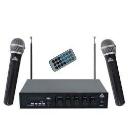 AXD-802VHF Σύστημα Karaoke Με 2 Ασύρματα Μικρόφωνα VHF | DBM Electronics
