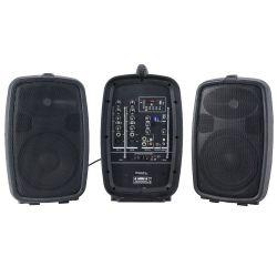 "Ibiza Sound COMBO208-VHF Φορητό Αυτοενισχυόμενο Ηχοσύστημα 8"" Με 2 Μικρόφωνα, Ισχύος 150Watt | DBM Electronics"