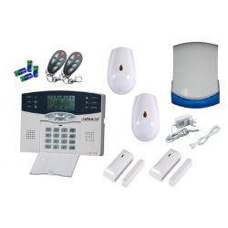 ML-300K Basic Pack Ασύρματο Σετ Συναγερμού Με Τηλεφωνητή PSTN / 2 Ραντάρ / 2 Επαφές / 2 Τηλεκοντρόλ Μπρελόκ Και Ασύρματη Εξωτερική Σειρήνα | DBM Electronics