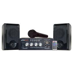 Party Light & Sound PARTY-KA100 Ολοκληρωμένο Σετ Karaoke Με 1 Μικρόφωνο, Είσοδοι USB/SD & Bluetooth | DBM Electronics
