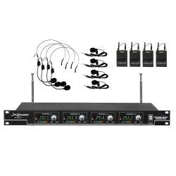 Xsound XS-MP-4 Ασύρματο Σετ Μικροφώνων VHF Με 4 Μικρόφωνα Πέτου Και 4 Μικρόφωνα Κεφαλής | DBM Electronics