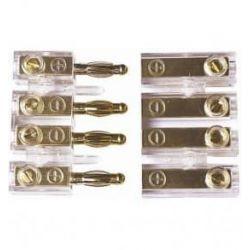 Επίχρυσος Συνδετήρας Για Σύνδεση Μεγαφώνων 2 Ζεύγων, OEM XA-1120 | DBM Electronics
