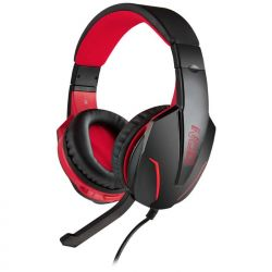 NOD GROUND POUNDER G-HDS-001 Gaming Headset Με Ρυθμιζόμενο Σε Κλίση Μικρόφωνο, Σε Μαύρο Χρώμα Και Κόκκινο LED Φωτισμό | DBM Electronics