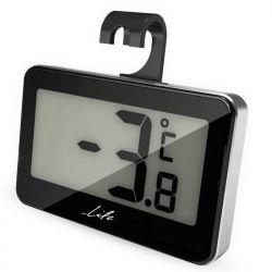 Life Fridgy WES-104 Ψηφιακό Θερμόμετρο Εσωτερικού Χώρου, Μικρού Μεγέθους, Σε Μαύρο Χρώμα Με Ασημί Περίγραμμα | DBM Electronics