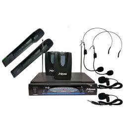 Xsound XS-CS-6 Ασύρματο Σύστημα Μικροφώνων VHF Με 2 Μικρόφωνα Πέτου, 2 Μικρόφωνα Κεφαλής Και 2 Μικρόφωνα Χειρός | DBM Electronics