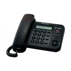 Panasonic KX-TS560EX2 Ενσύρματο Τηλέφωνο Με Μεγάλα Ευδιάκριτα Κουμπιά Κλασικού Σχεδιασμού, Μαύρο | DBM Electronics