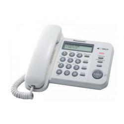 Panasonic KX-TS560EX2 Ενσύρματο Τηλέφωνο Με Μεγάλα Ευδιάκριτα Κουμπιά Κλασικού Σχεδιασμού, Λευκό | DBM Electronics