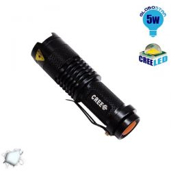 GloboStar 06202 Φορητός Φακός CREE LED T6 3 Mode Zoom | DBM Electronics