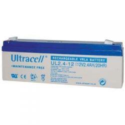 UL 2.4-12 Ultracell Επαναφορτιζόμενη Μπαταρία Μολύβδου 12V 2.4Ah | DBM Electronics