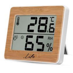 Life Gem Bamboo WES-107 Ψηφιακό Θερμόμετρο / Υγρόμετρο Εσωτερικού Χώρου | DBM Electronics