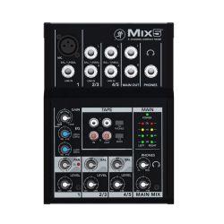 Mackie Mix5 Μικροφωνική Κονσόλα 5 Καναλιών Με Equalizer 2 Περιοχών | DBM Electronics