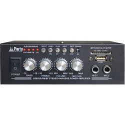 PLS1250USB-RC Στερεοφωνικός Ενισχυτής Με 2 Εισόδους Μικροφώνων | DBM Electronics
