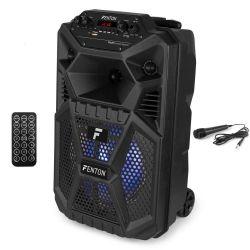 FENTON FPC8T Φορητό Party Ηχείο Ισχύος 50W MP3/ USB/ SD/ Bluetooth / Μικρόφωνο Με Μπαταρία & Trolley | DBM Electronics
