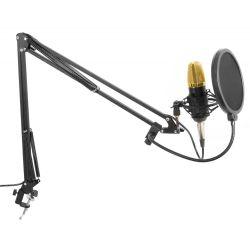 VONYX CMS400B Studio Set Με Μικρόφωνο Phantom, Βάση στήριξης Και Anti-Pop Φίλτρο (Gold) | DBM Electronics