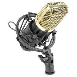 VONYX CM650 Πυκνωτικό Studio Μικρόφωνο Phantom 48V, Χρώμα Μάυρο / Χρυσό | DBM Electronics