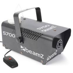 BEAMZ S700 Μηχανή Καπνού Ισχύος 700 Watt Με Ενσύρματο Χειριστήριο και Υγρό | DBM Electronics
