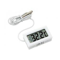 Blow TH-301 Θερμόμετρο Με LCD Οθόνη & Ενσύρματο Εξωτερικό Αισθητήρα Σε Λευκό | DBM Electronics