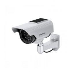CABLETECH DK-12 Ψεύτικη Κάμερα Παρακολούθησης Bullet Με Ηλιακό Φορτιστή | DBM Electronics