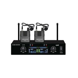Audio Master U150-BB Σετ 2 Ασύρματων ΜΙκροφώνων Πέτου UHF | DBM Electronics