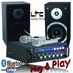 LTC KARAOKE-STAR4 Ολοκληρωμένο σετ Karaoke Με 2 Μικρόφωνα, Είσοδο USB & Bluetooth | DBM Electronics