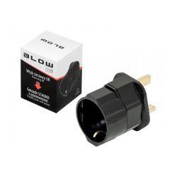 Blow 2135 Αντάπτορας Φις UK Σε Σούκο Με Μαύρο Χρώμα | DBM Electronics
