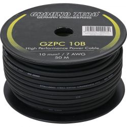 Ground Zero GZPC 10B Μαύρο Καλώδιο Γείωσης-Ρεύματος Κουλούρα 7AWG (Κουλούρα 50m.) | DBM Electronics