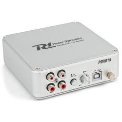 POWER DYNAMICS PDX015 Προενισχυτής Πικάπ-Phono Σε Line Με USB Και Πρόγραμμα Audacity | DBM Electronics