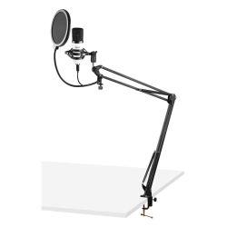 VONYX CMS300W Πυκνωτικό Studio Set Μικρόφωνο Με Σύνδεση USB Σε Λευκό Χρώμα   DBM Electronics