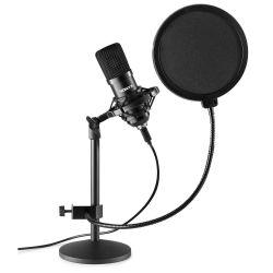 VONYX CMTS300 Πυκνωτικό Studio Set Μικρόφωνο Με Σύνδεση USB Σε Μαύρο Χρώμα | DBM Electronics