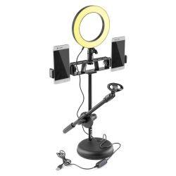 VONYX RL20 Βάση Στήριξης Μικροφώνου Με 2 Θέσεις Κινητών & Φωτιστικό Δακτύλιο | DBM Electronics