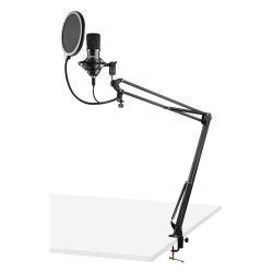 VONYX CMS300B Πυκνωτικό Studio Set Μικρόφωνο Με USB Σύνδεση Σε Μαύρο Χρώμα | DBM Electronics