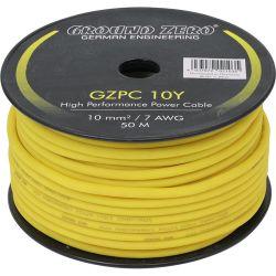 Ground Zero GZPC 10Y Καλώδιο Ρεύματος-Γείωσης 7AWG (Ανα Μέτρο) | DBM Electronics